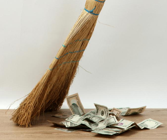 spring clean money