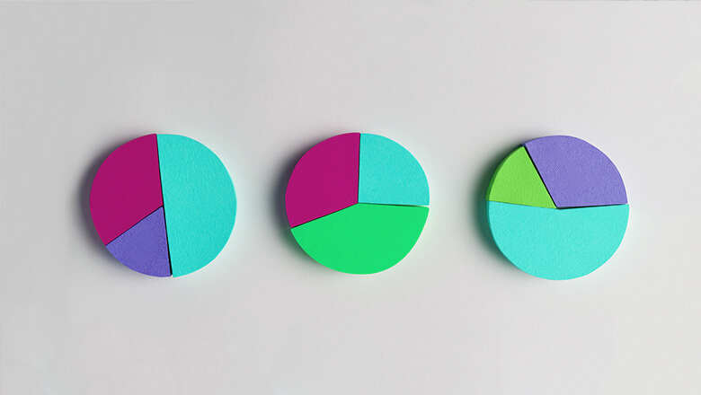 colorful pie charts mobile