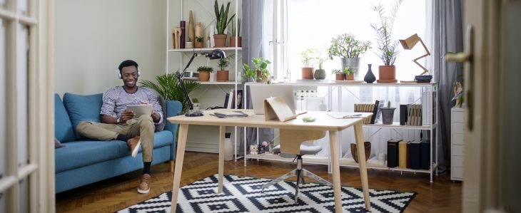 When planning a home office, think about adding a reading chair to your space.